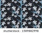 seamless pattern of beautiful...   Shutterstock . vector #1589882998