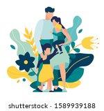 vector illustration of a happy... | Shutterstock .eps vector #1589939188
