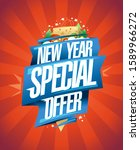 new year special offer  holiday ... | Shutterstock .eps vector #1589966272