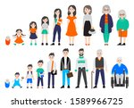 woman and man in different age... | Shutterstock .eps vector #1589966725