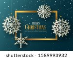 winter and holidays design with ... | Shutterstock .eps vector #1589993932