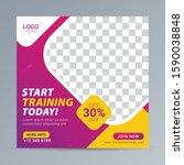 fitness gym social media post... | Shutterstock .eps vector #1590038848