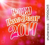 happy new year 2014 bright... | Shutterstock .eps vector #159006245