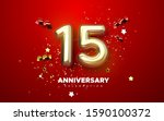 15th anniversary celebration.... | Shutterstock .eps vector #1590100372