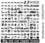 big set car repair icons.... | Shutterstock .eps vector #159014792