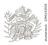 hand drawing coloring pages for ... | Shutterstock .eps vector #1590152935