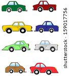 cars collection | Shutterstock . vector #159017756