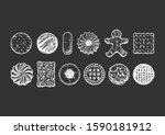 set of different tasty cookies...   Shutterstock .eps vector #1590181912