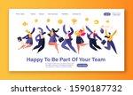 happy young business people men ...   Shutterstock .eps vector #1590187732