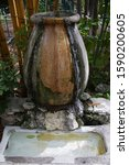 Small photo of Fountain in garden at Ernest Hemingway's Home and Museum, Whitehead Street, Key West, Florida, United States
