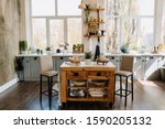 Kitchen Modern Interior With...