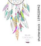 dream  catcher  vector... | Shutterstock .eps vector #159020942