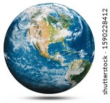 Planet Earth Globe Isolated....