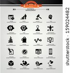 business management icons black ... | Shutterstock .eps vector #159024482