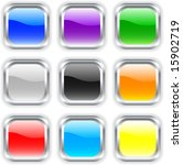 beautiful buttons with shadow.... | Shutterstock .eps vector #15902719