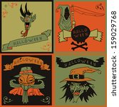 halloween postcard invitation... | Shutterstock .eps vector #159029768