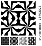 five vector patterns tiles...   Shutterstock .eps vector #15903028