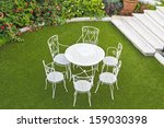 Open Summer Patio With White...