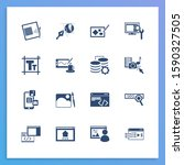 web icon set and typography...