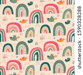 vector seamless pattern with... | Shutterstock .eps vector #1590328288