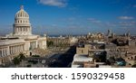 View from Hotel Saratoga to Capitol, Prado and old downtown Havana, Cuba