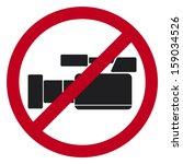do not record video sign   Shutterstock .eps vector #159034526