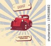 vintage retro pickup truck car...   Shutterstock .eps vector #159038882