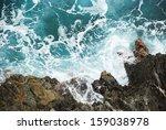 Wave Breaking Against Cliff In...