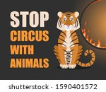 stop circus with animals.... | Shutterstock .eps vector #1590401572