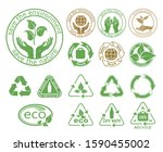 ecology icons set. symbols of... | Shutterstock .eps vector #1590455002
