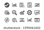 analytics icons. reports ... | Shutterstock .eps vector #1590461602