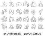 management line icons. set of... | Shutterstock .eps vector #1590462508