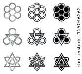 celtic knot design elements...   Shutterstock .eps vector #159046262