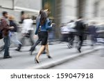 business people at rush hour... | Shutterstock . vector #159047918