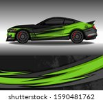 Car Wrap Decal Design Vector ...