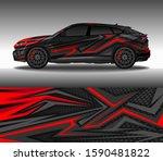 car wrap decal design vector ... | Shutterstock .eps vector #1590481822