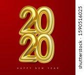 vector happy new 2020 year....   Shutterstock .eps vector #1590516025