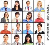 people faces collage. man and...   Shutterstock . vector #159058262