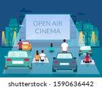 open air cinema  vector... | Shutterstock .eps vector #1590636442