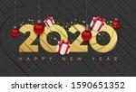 vector happy new 2020 year.... | Shutterstock .eps vector #1590651352