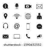 contact icon set. vector...   Shutterstock .eps vector #1590652552