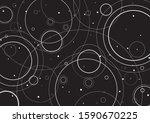 ripple wave circle. splash... | Shutterstock .eps vector #1590670225