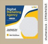 digital marketing posts design... | Shutterstock .eps vector #1590696565