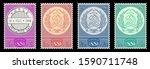 fake vintage set of ussr... | Shutterstock .eps vector #1590711748