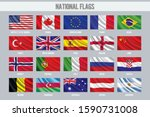 wavy national flags of the... | Shutterstock .eps vector #1590731008