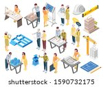architects engineers isometric... | Shutterstock .eps vector #1590732175