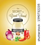 realistic mayonnaise vertical... | Shutterstock .eps vector #1590732235