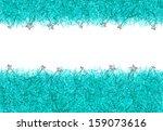 blue christmas tinsel texture... | Shutterstock . vector #159073616