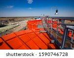 Orange Steel Storage Tanks With ...