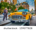 Vintage Yellow Taxi In New York ...